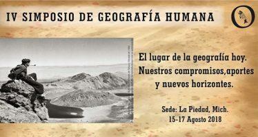 IV Simposio de geografía humana