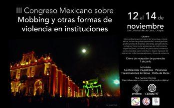 III Congreso Mexicano sobre Mobbing y Otras Formas de Violencia en Instituciones