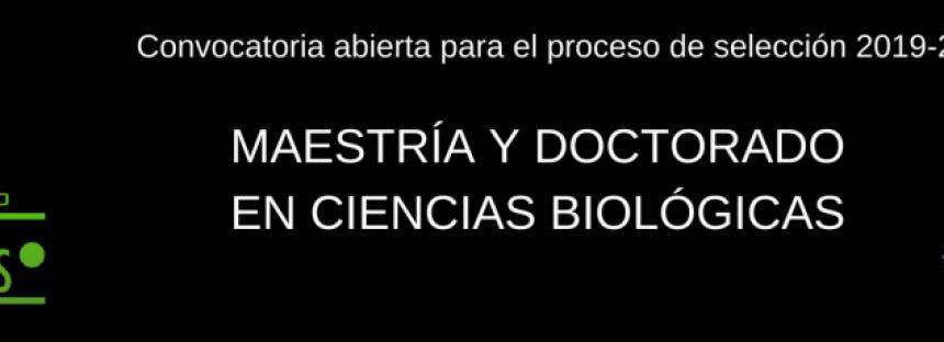 Lista convocatoria del Posgrado en Ciencias Biológicas en el IIES UNAM
