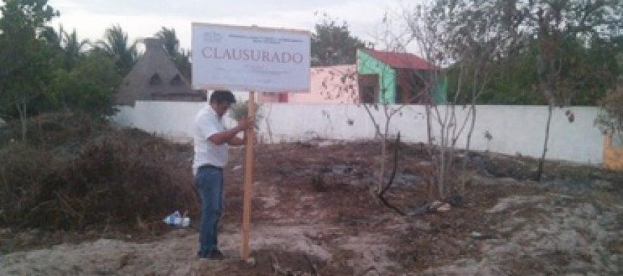 La PROFEPA clausura dos predios en Chuburná, Yucatán, por destrucción de ecosistema de matorral costero