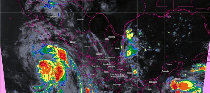 Prevén tormentas puntuales intensas en Chiapas y muy fuertes en Baja California Sur, Sonora, Chihuahua, Durango y Sinaloa