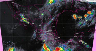 Prevén tormentas muy fuertes en doce entidades de México