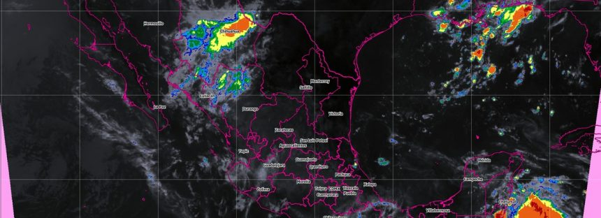 Para hoy se pronostican tormentas intensas en Chiapas, Oaxaca, Veracruz y Tabasco