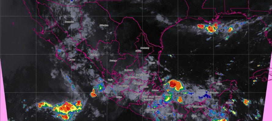 Hoy, miércoles, se prevén tormentas intensas en Veracruz, Oaxaca y Chiapas
