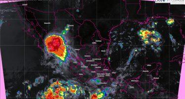 Se prevén tormentas intensas en Chiapas y muy fuertes en Oaxaca, Guerrero, Veracruz, Tabasco y Campeche