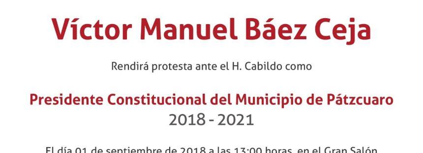 Sesión solemne toma de protesta del C. Víctor Manuel Báez Ceja