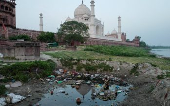 La mugre amenaza el Taj Mahal