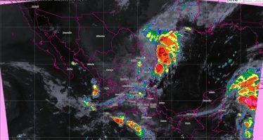 Se prevén tormentas intensas, actividad eléctrica, vientos fuertes y posibles granizadas en ocho entidades de México