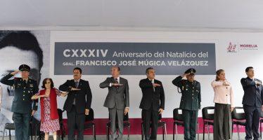 Ayuntamiento de Morelia conmemora el CXXXIV Aniversario del Natalicio del Gral. Francisco José Múgica