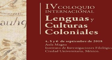 IV coloquio internacional lenguas y culturas coloniales