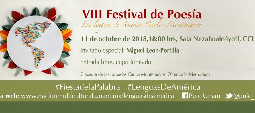 """VIII Festival de poesía """"Las lenguas de América Carlos Montemayor"""""""