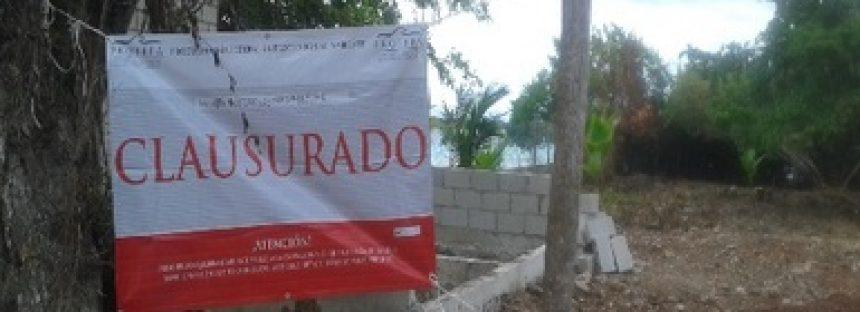 Clausuran predio por afectar recursos naturales en un corredor biológico en Bacalar, Quintana Roo