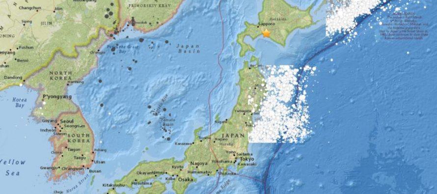 Terremoto de 6,7 grados de magnitud sacude isla de Hokkaido en Japón