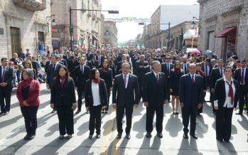Morelianos y Gobierno Municipal realizaron el Desfile Cívico Militar del 16 de septiembre