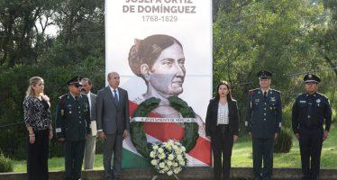 Ayuntamiento de Morelia conmemora 250 aniversario del natalicio de Josefa Ortiz de Domínguez
