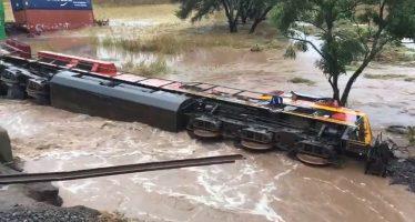 Se descarrila tren de Kansas City Southern cerca de Morelia, Michoacán, México