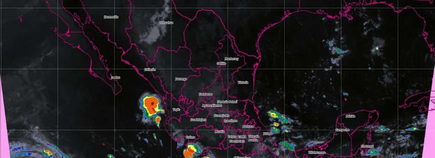 Durante las próximas horas se prevén tormentas intensas en Veracruz, Tabasco, Oaxaca y Chiapas