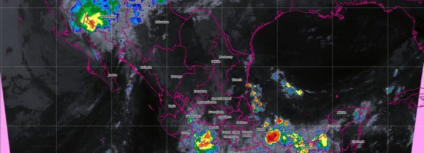 Durante la madrugada de hoy Sergio tocó tierra aproximadamente a 80 km al sur-sureste de Punta Abreojos, Baja California Sur