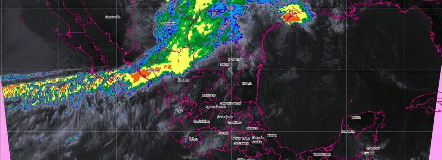 Hoy se pronostican tormentas muy fuertes en Hidalgo, Puebla, Oaxaca, Guerrero y Chiapas