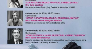 "Conferencias: ""Cambio climático. Futuros posibles"""