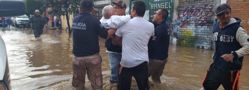 Se activa plan de emergencia en Morelia por las lluvias e inundaciones del huracán Willa