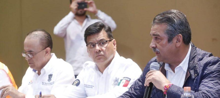 Instalan Estado y Municipio Comité de Emergencias para atender contingencia por lluvias en Morelia