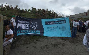 Recolectan 10 toneladas de residuos en las playas de Alvarado, Veracruz