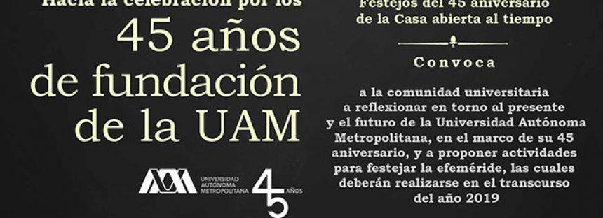 Comision para los festejos del 45 aniversario de la UAM