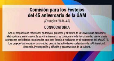 Festejos del 45 aniversario de la UAM