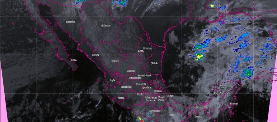 Se prevén tormentas muy fuertes en Guerrero y fuertes en Baja California, Oaxaca, Chiapas, Campeche, Yucatán y Quintana Roo