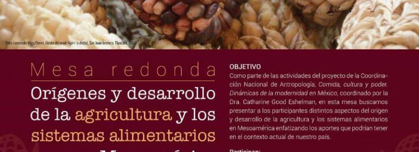 Mesa redonda: Orígenes y desarrollo de la agricultura y los sistemas alimentarios en Mesoamérica