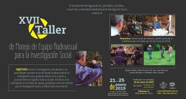 XVII Taller de manejo de equipo audiovisual para la investigación social