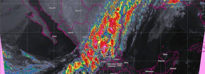 Lluvias con chubascos, se prevén en Coahuila, Zacatecas, Nayarit, Jalisco, Tamaulipas, Veracruz, Yucatán y Quintana Roo