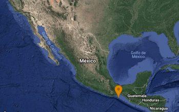 Sismo de 5.8 esta mañana en Salina Cruz Oaxaca