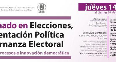 III Diplomado de elecciones, representación política y gobernanza electoral