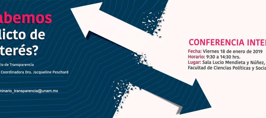 Conferencia internacional: ¡Qué sabemos del conflicto de interés?