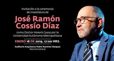 Ceremonia de investidura de José Ramón Cossío Díaz como Doctor Honoris Causa