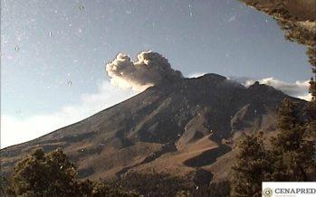 Volcán Popocatépetl ha realizado 123 exhalaciones hasta el momento