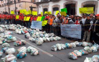 Protestan en Morelia por cobro al impuesto por confinamiento de basura