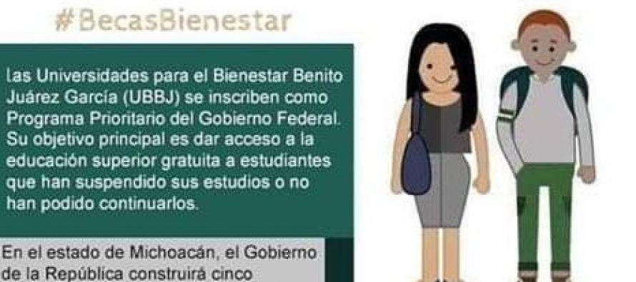 Becas para el bienestar Benito Juárez García