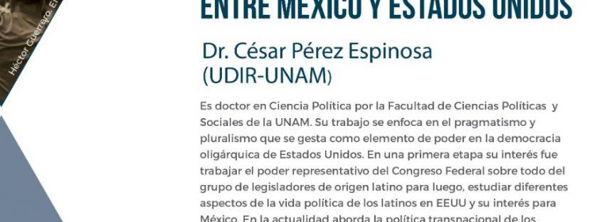 Conferencia: La caravana migrante y el entorno de la política entre México y Estados Unidos