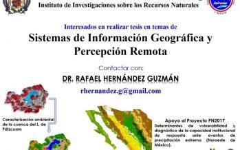 Convocan a estudiantes para tesis en Sistemas de Información Geográfica y Percepción Remota en el INIRENA