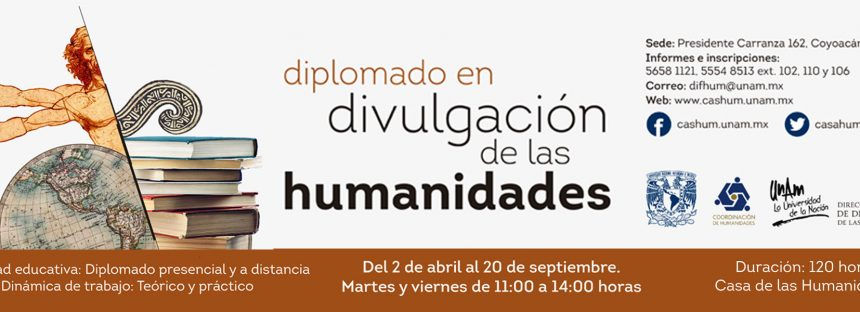 Diplomado en divulgación de las humanidades