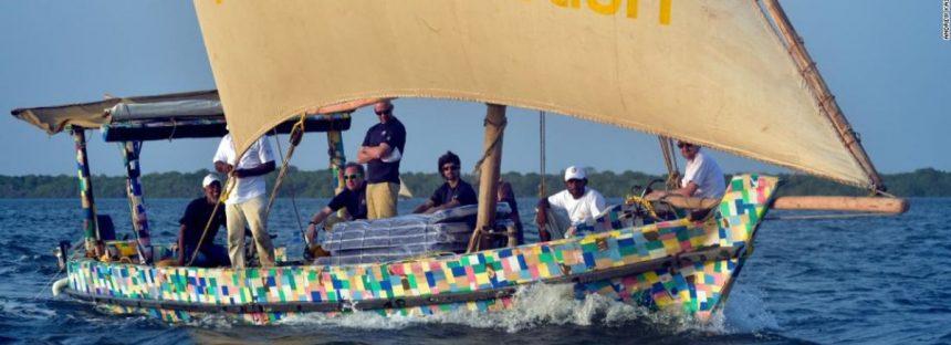 El Flipflopi llega a Zanzíbar y finaliza su primera expedición contra la basura marina