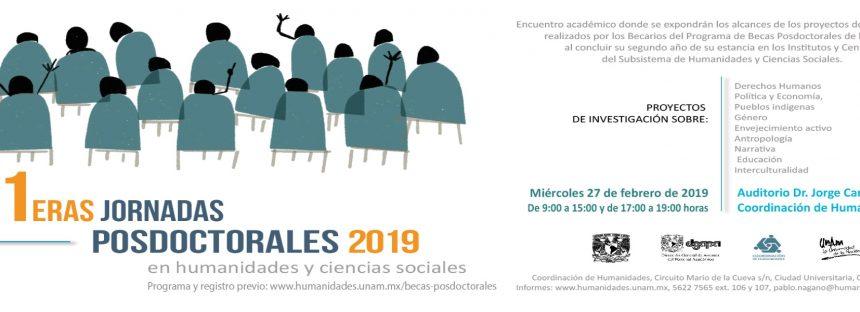 Primeras jornadas posdoctorales en humanidades y ciencias sociales 2019