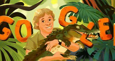 """Steven Irwin es homenajeado con un """"doodle"""" de Google"""