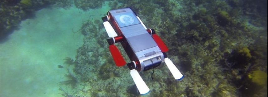 Robot submarino diseñado por el Cinvestav Saltillo, se usa en la protección de arrecifes del Caribe mexicano