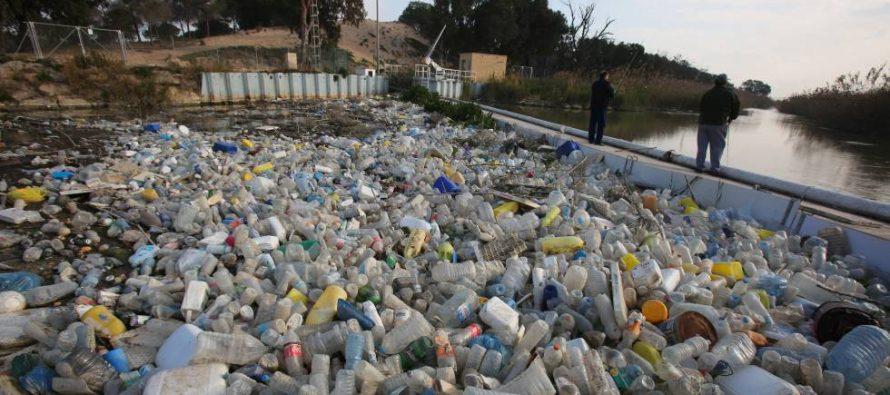 Un mar de plásticos se amontona en la desembocadura del Segura