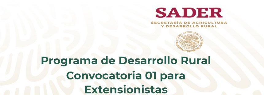 Convocatorias para Extensionistas SADER 2019