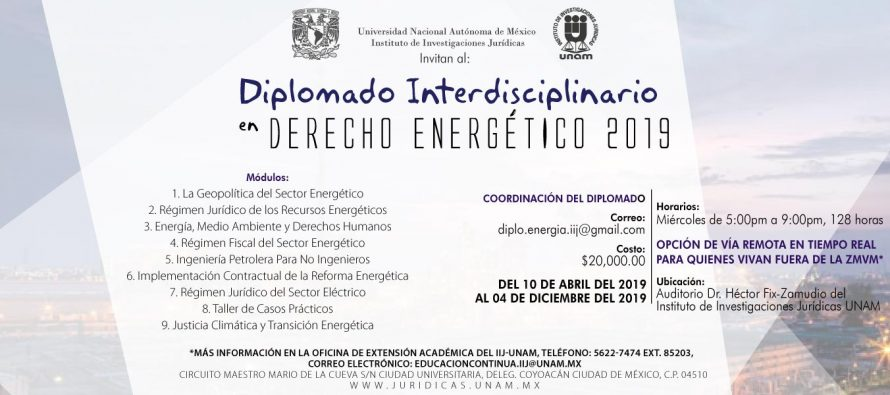 Diplomado Interdisciplinario en Derecho Energético 2019